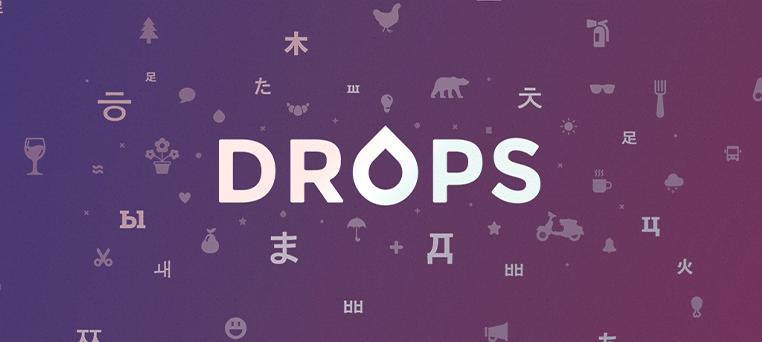 اپلیکیشن آموزش زبان انگلیسی Drops