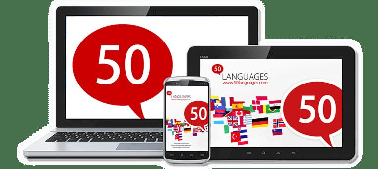 اپلیکیشن آموزش زبان انگلیسی Learn 50 Languages